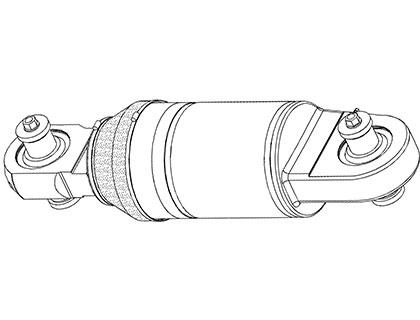 Цилиндры пневмогидроподвески автосамосвала